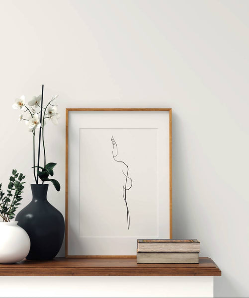 Woman Outline No.1- Printable Wall Art