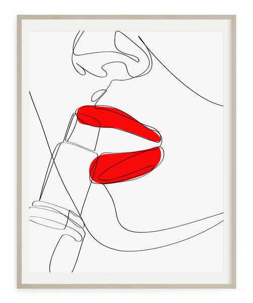 Red Lips Fashion- Printable Wall Art