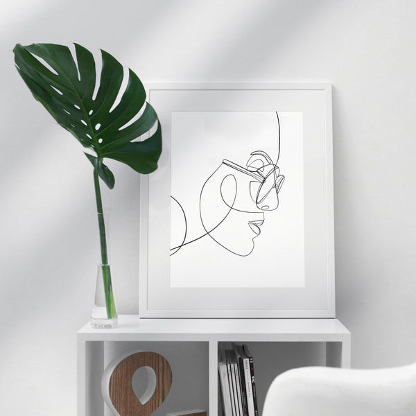 Side Profile- Printable Wall Art