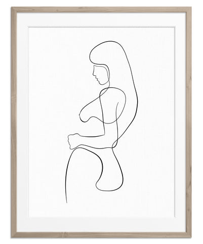 Woman Side Hip Pose | Fine Art Print