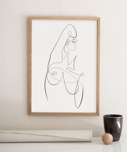 Feminine Exotic Pose No.4- Printable Wall Art