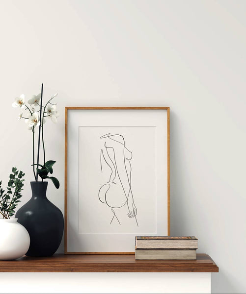 Woman Outline No.9- Printable Wall Art