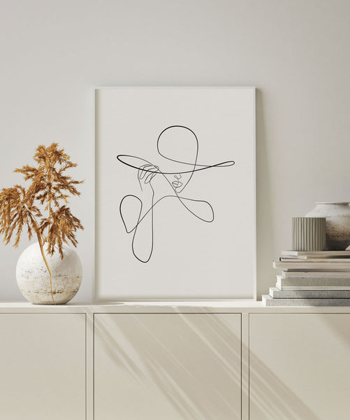 Minimalist and chic fashion print wall art.