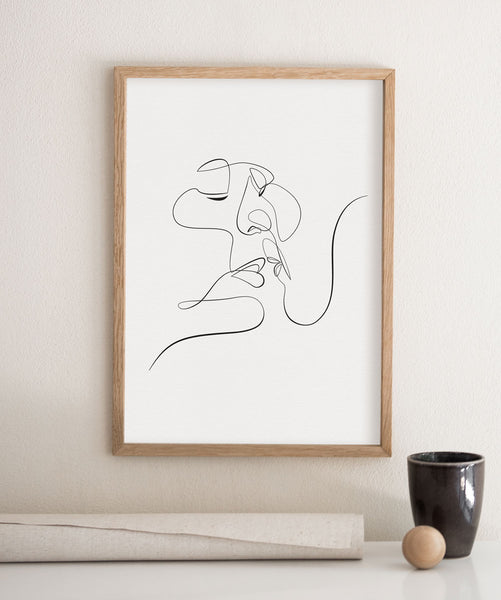 Just Kiss Me- Printable Wall Art