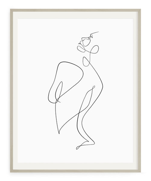 Figurative Woman No.6- Printable Wall Art
