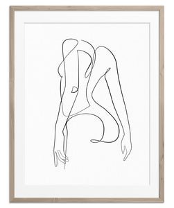 Woman Outline No.14 | Fine Art Print