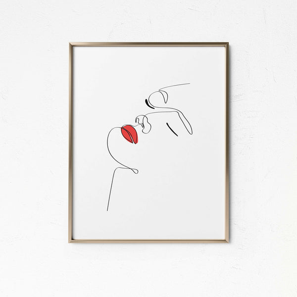 Punchy Red- Printable Wall Art
