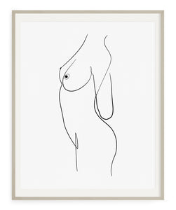 The Nudist- Printable Wall Art