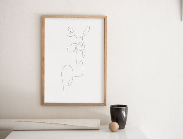 Fine Line Body- Printable Wall Art