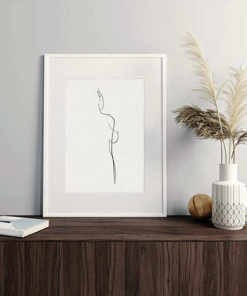 Woman Body Outline No.1 | Fine Art Print
