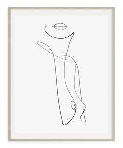 Abstract Female Torso- Printable Wall Art
