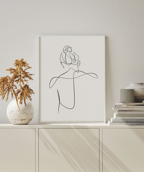Minimalist chic wall art female art