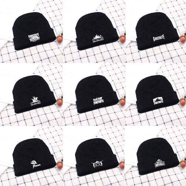 6ae069a32e9 Casual Black Fornite Game Skullies Beanies For Men Women Winter Knitted  Warm Hat Hip-hop