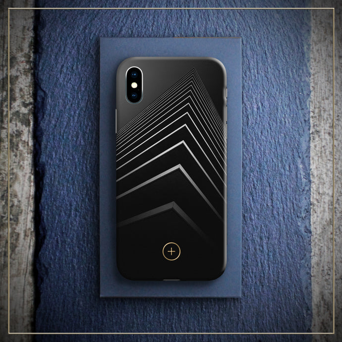 Iphone X cover case, karma edition, Black Edition for Iphone, designed by michael frassine, Conceptual Plus, Art cover club