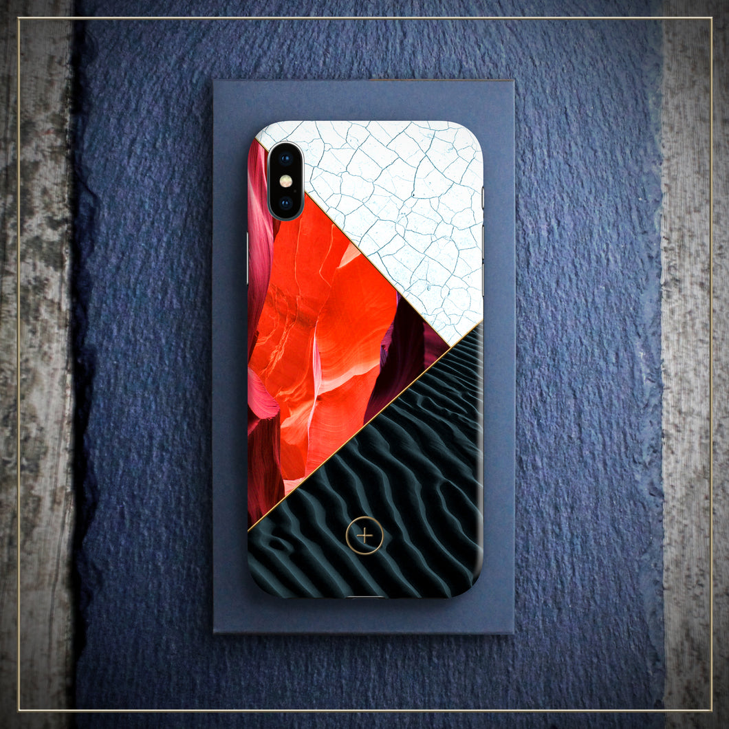 Iphone X cover case, karma edition, RED STONE Edition for Iphone, designed by michael frassine, Conceptual Plus, Art cover club