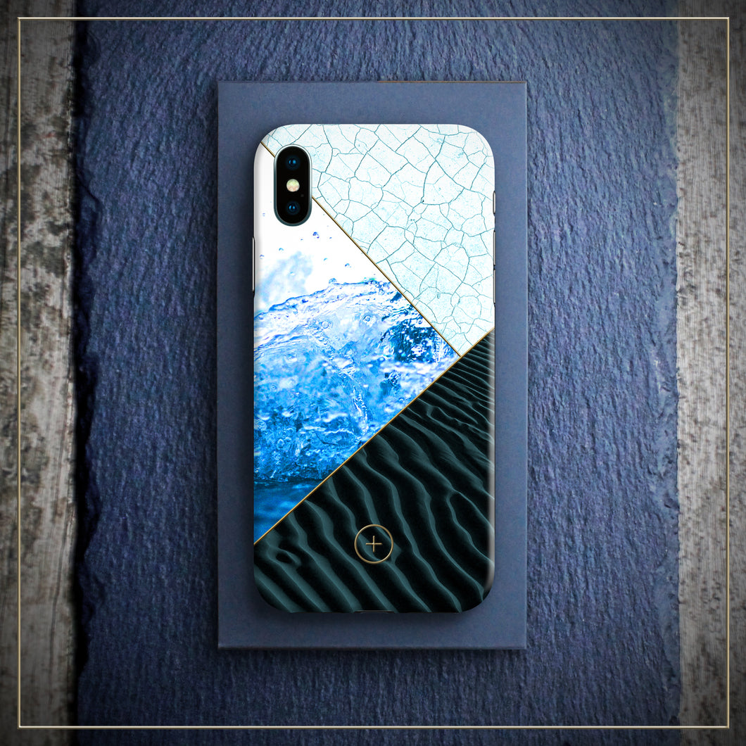 Iphone X cover case, karma edition, AQUA Edition for Iphone, designed by michael frassine, Conceptual Plus, Art cover club