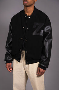 BASEBALL JACKET - BLACK
