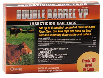 DOUBLE BARREL® VP INSECTICIDE EAR TAGS