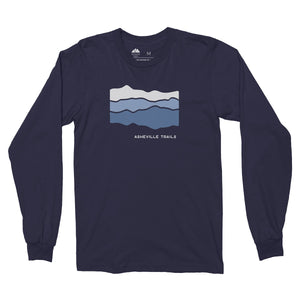 Asheville Trails Blue Ridge Mountains Long Sleeve Shirt