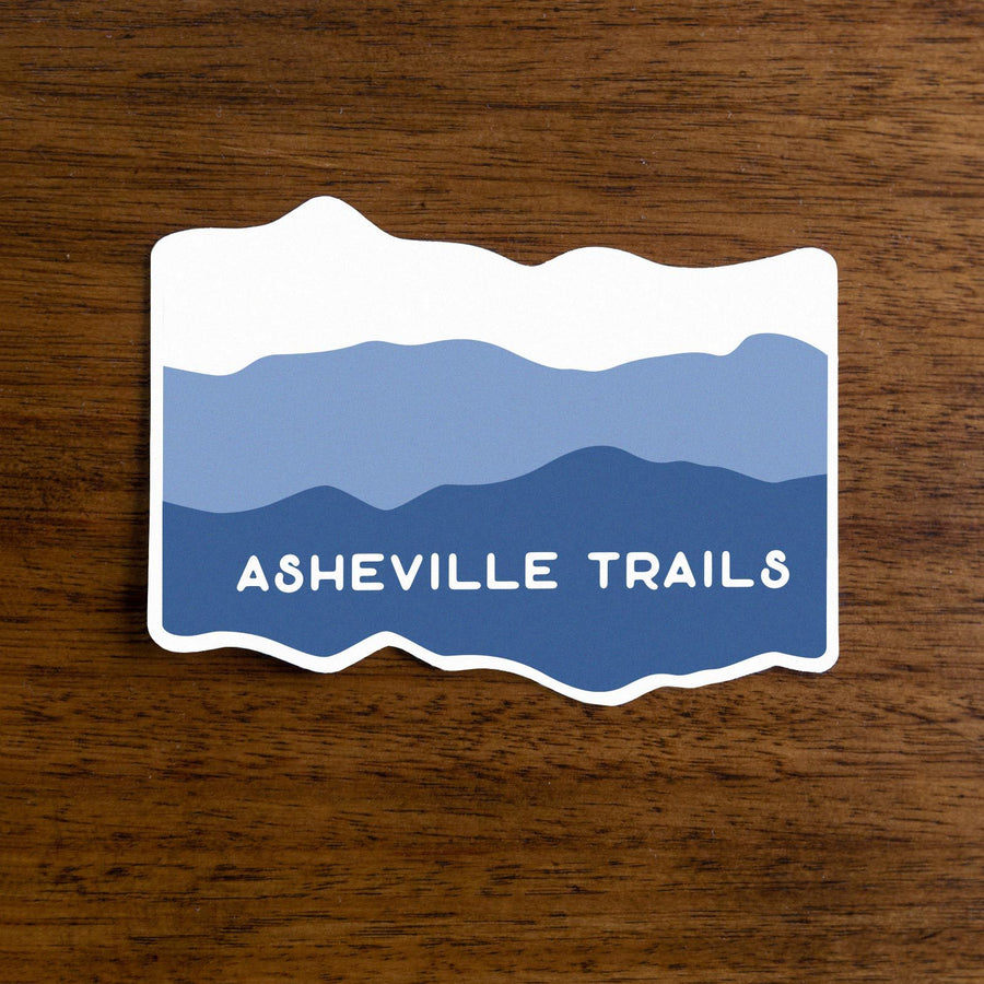 Asheville Trails Blue Ridge Mountains Sticker