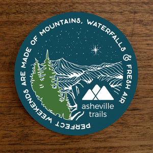 Asheville Trails Perfect Weekends Sticker