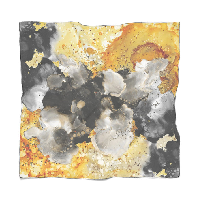 Golden Clouds Poly Scarf