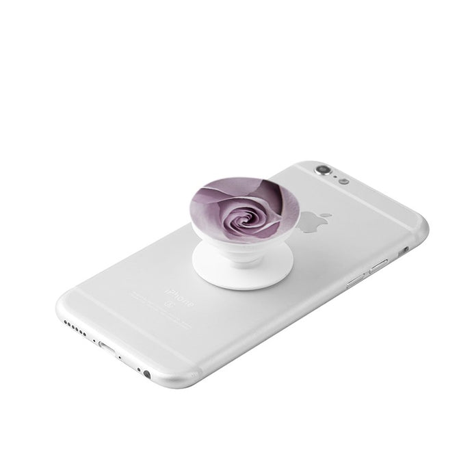 Lavender Rose White Collapsible Grip & Stand for Phones and Tablets