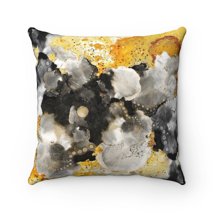 Golden Clouds Square Pillow