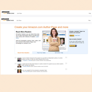 How to start an Amazon author page