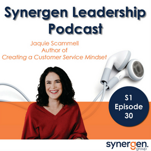 Synergen Leadership podcast interviews Jaquie Scammell