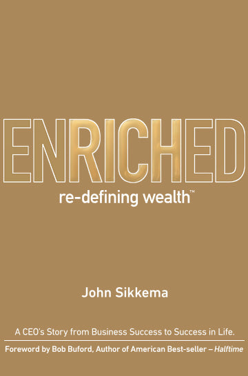 Business book cover for Enriched by John Sikkema