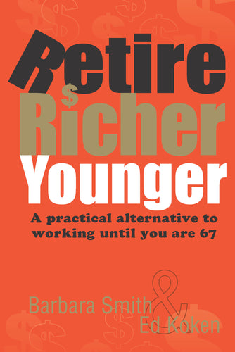 finance book cover for Retire Richer Younger by Barbara Smith and Ed Koken