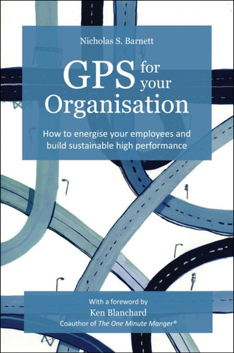Business book cover for GPS for your organisation by Nicholas Barnett