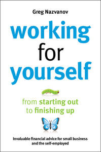Business book cover for Working for Yourself by Greg Nazanov