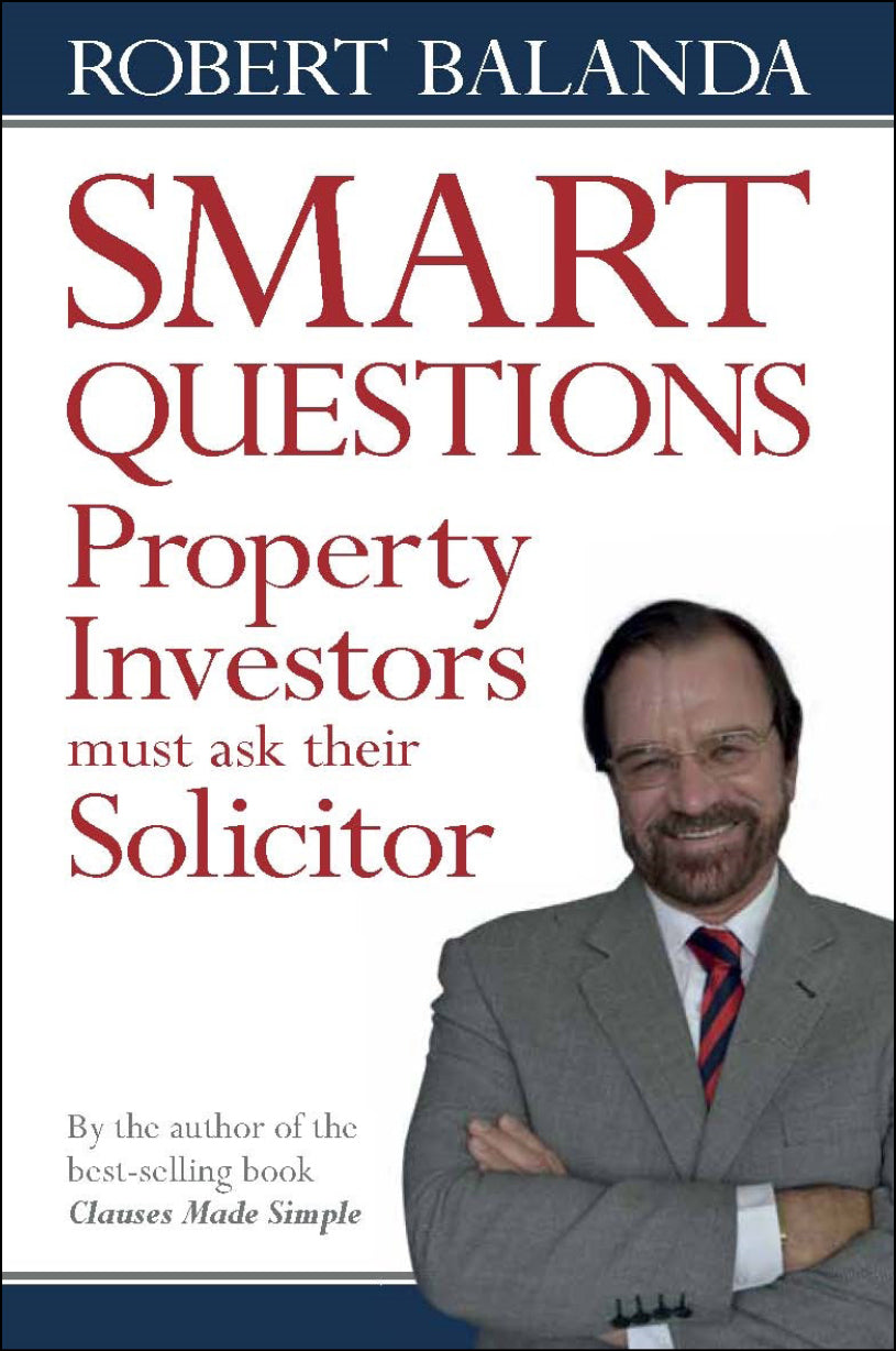 Property book cover for Smart Questions Property Investors should ask their Solicitor by Robert Balanda