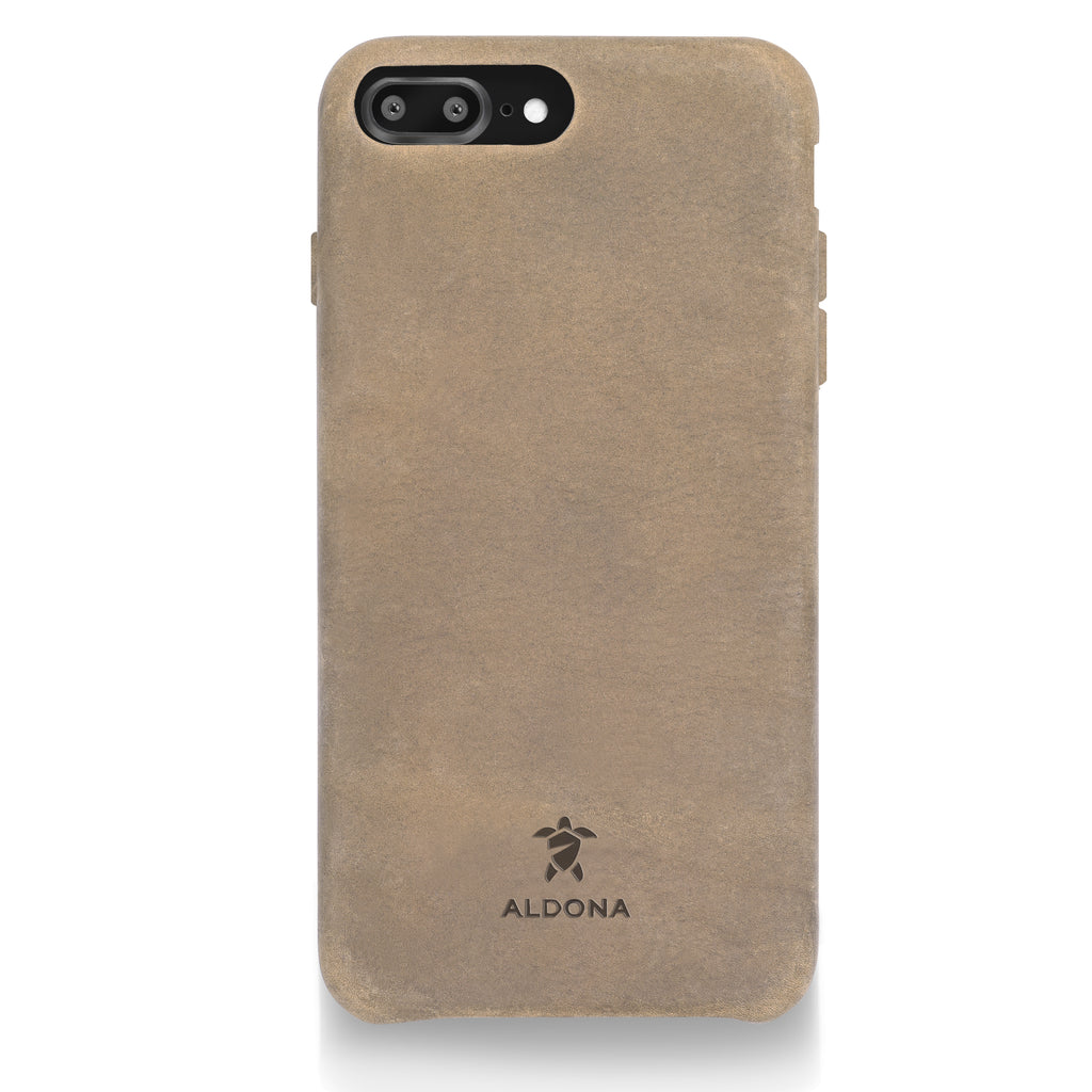 Kalon Leather iPhone 8 Plus / 7 Plus Snap Case - Burnt Tobacco Colour