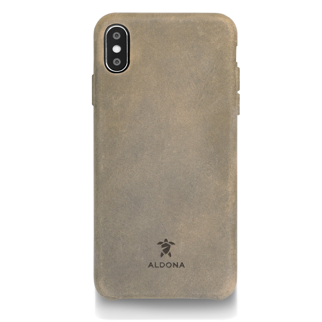 Kalon Leather iPhone XS Max Snap Case - Burnt Tobacco Colour