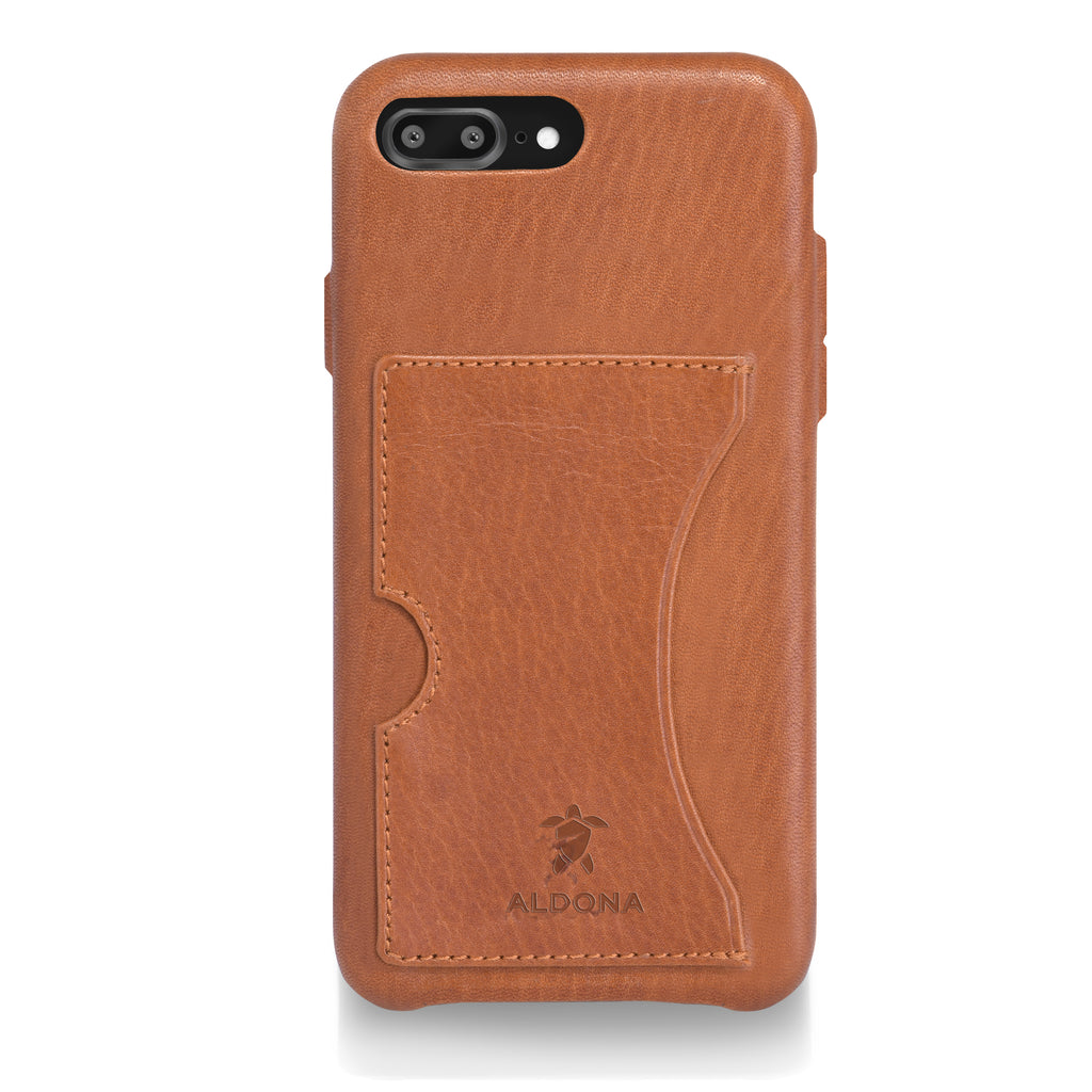 Baxter Leather iPhone 8 Plus / 7 Plus Card Case - Wild Oak Colour