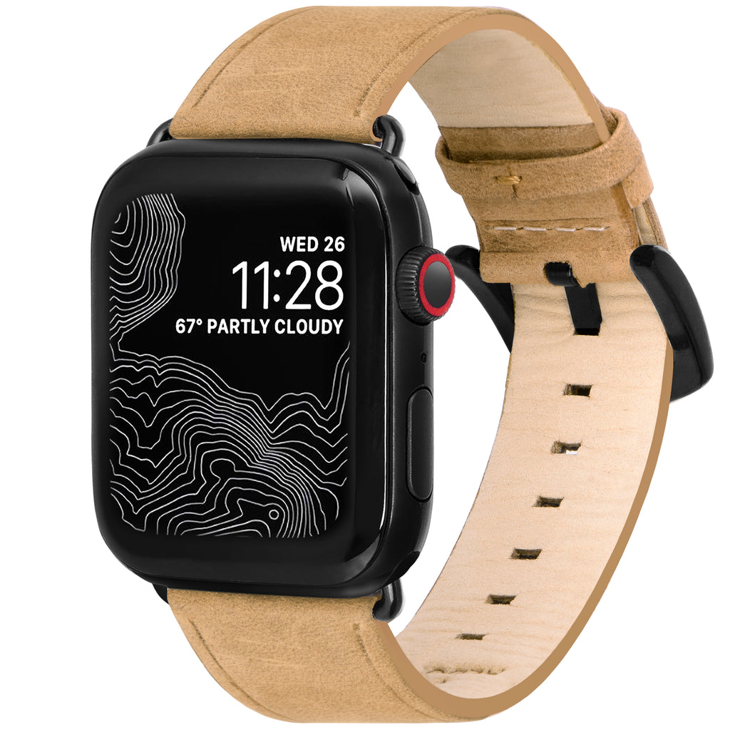 Amar - Genuine Leather Watch Strap Apple Watch Series 1, 2, 3, 4 and 5