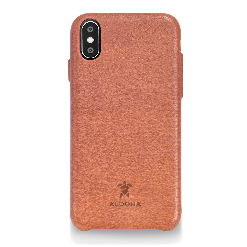 Kalon Leather iPhone XS Max Snap Case - Wild Oak Colour