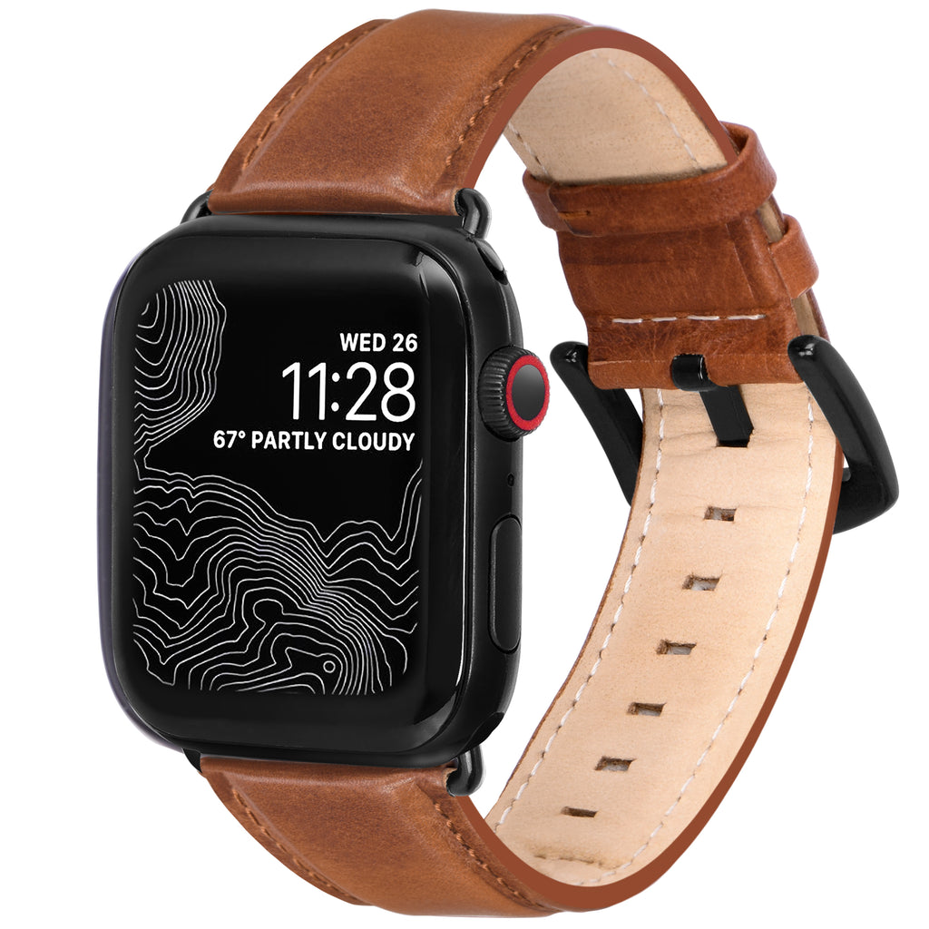 Encantar Leather Apple Watch Strap - 38 mm / 40 mm - Wild Oak Colour