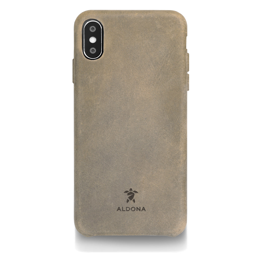Kalon Leather iPhone XS / X Snap Case - Burnt Tobacco Colour