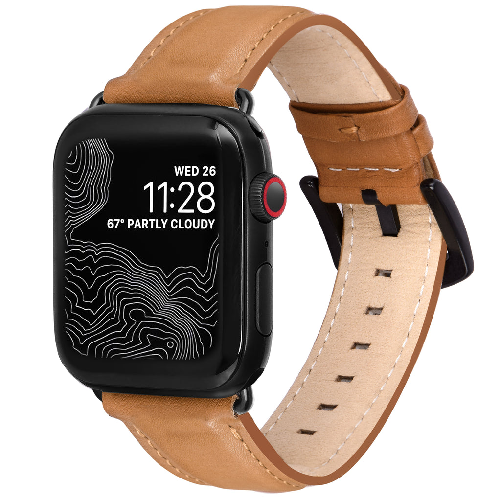 Encantar Leather Apple Watch Strap - 38 mm / 40 mm - Vintage Tan Colour
