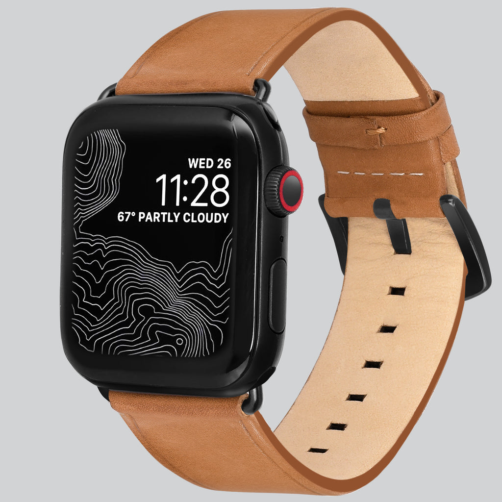 Amar Leather Apple Watch Strap - 42 mm / 44 mm - Vintage Tan Colour