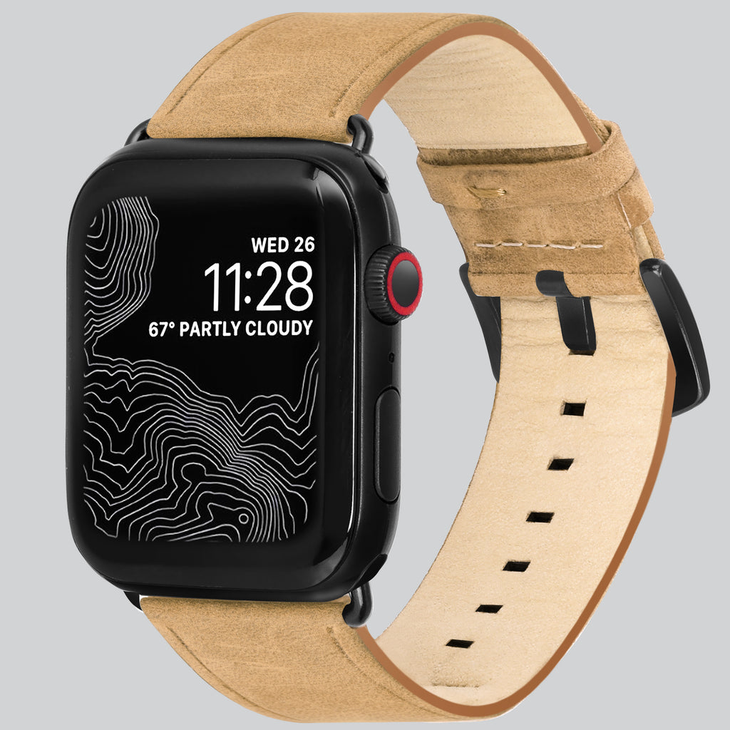 Amar Leather Apple Watch Strap - 42 mm / 44 mm - Natural Camel Colour