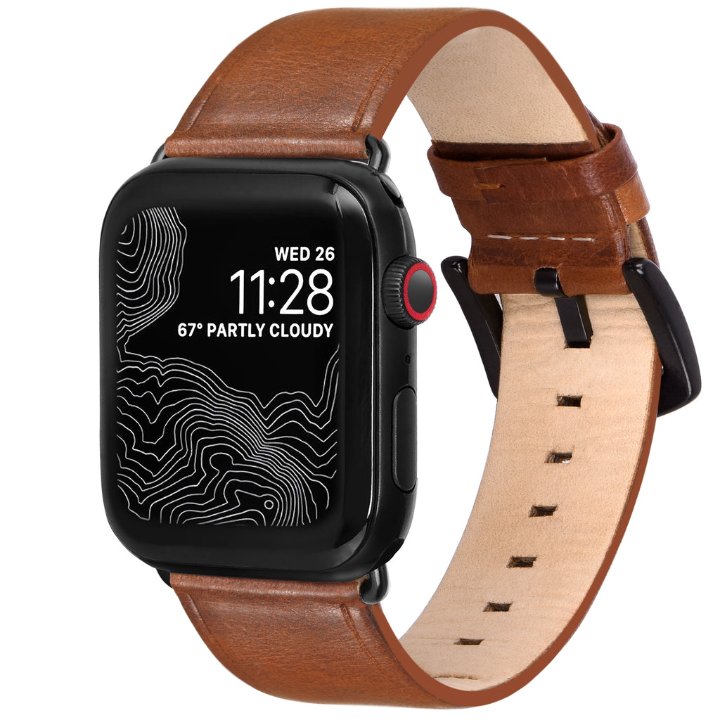 Amar Leather Apple Watch Strap - 38 mm / 40 mm - Wild Oak Colour