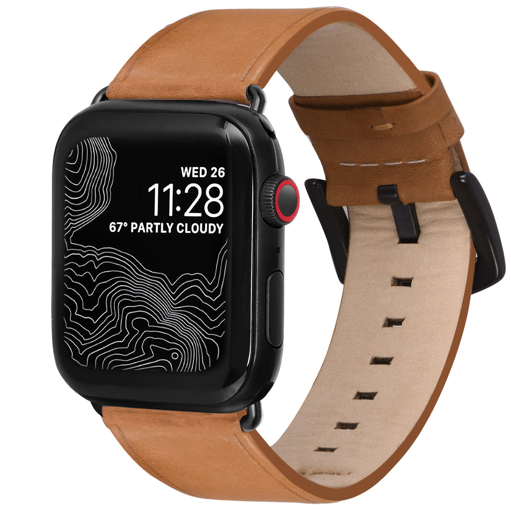 Amar Leather Apple Watch Strap - 38 mm / 40 mm - Vintage Tan Colour
