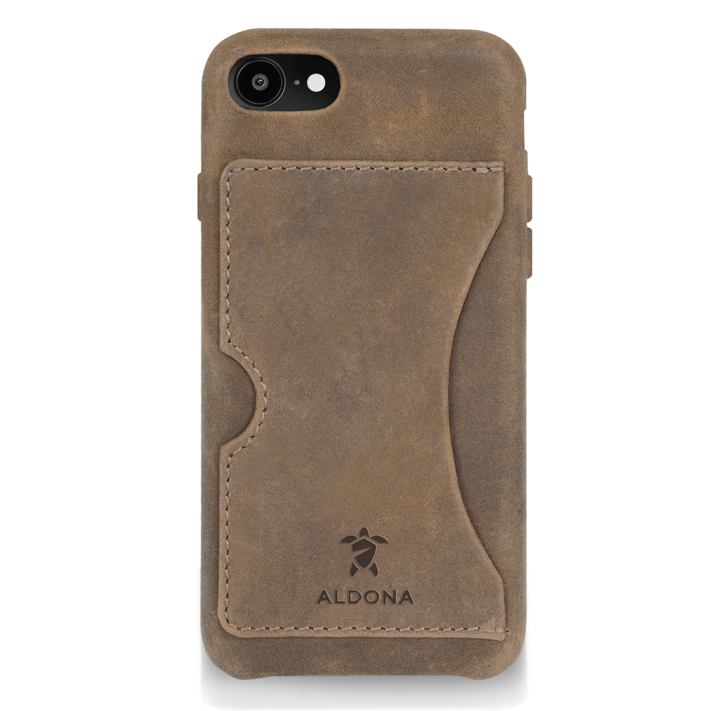 Baxter Leather iPhone 8 / 7 Card Case - Burnt Tobacco Colour