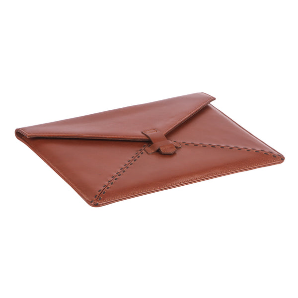 Signature Leather Sleeve for 12.9 iPad Pro - Cognac Colour