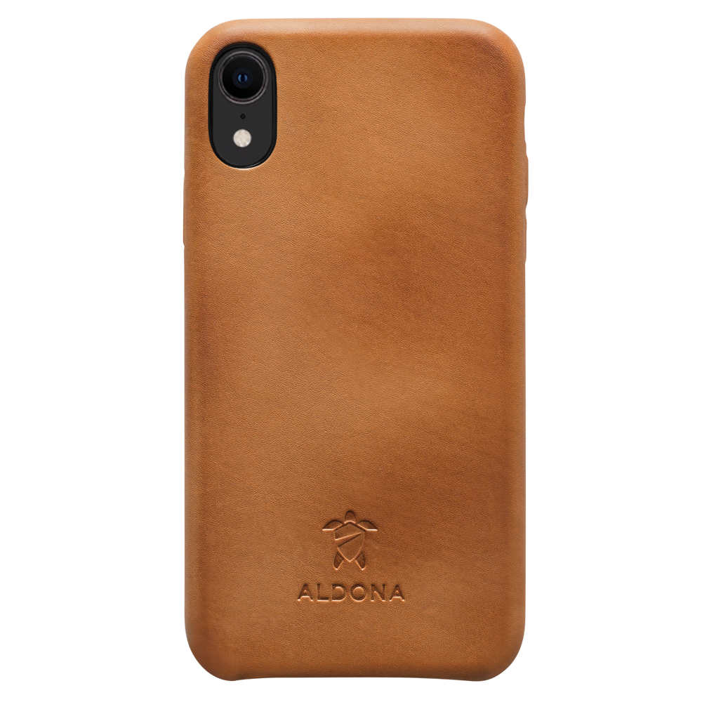 Kalon Leather iPhone XR Snap Case - Vintage Tan Colour